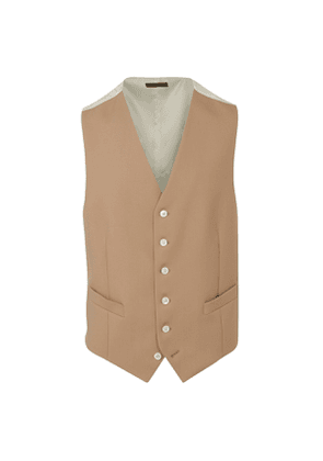 Beige Single-Breasted Morning Waistcoat