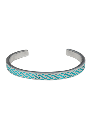 Sterling Silver and Turquoise Woven Open Cuff