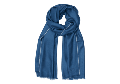 Light Blue Cashmere and Silk Scarf