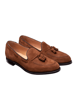 Tan Suede Harry II Tassel Loafers