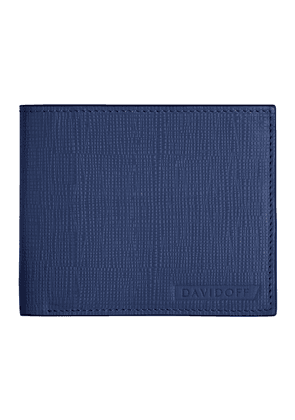 Blue Embossed Leather Crossroads Six-Card Wallet