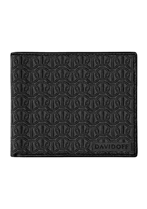 Black Embossed Leather Zino Eight-Card Wallet