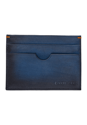 Blue Hand-Painted Leather Venice Card Holder