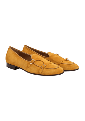 Yellow Suede Brera Double-Monk Strap Loafers