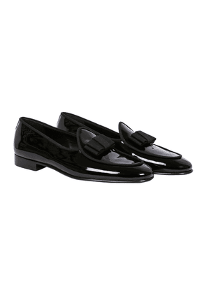 Black Patent-Leather Opera Loafers