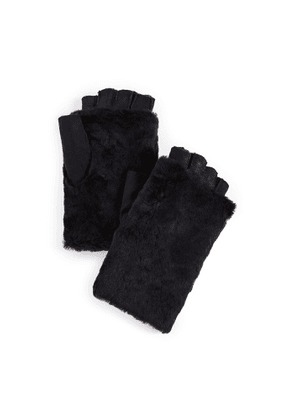 Agnelle Bella Shearling Fingerless Gloves