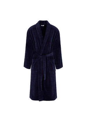 Navy Cotton Triton Robe