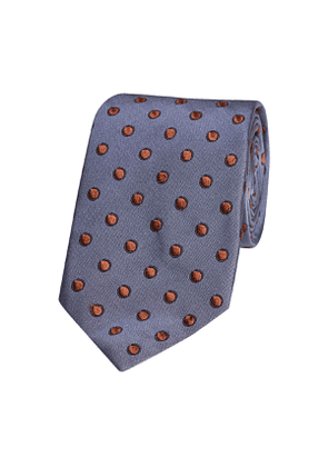 Airforce Blue Spotted Silk Tie