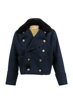 Navy Boiled Wool Double Breasted 1814 Jacket