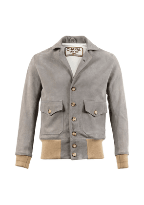 Light Grey Suede Leather AE 1932 Bomber
