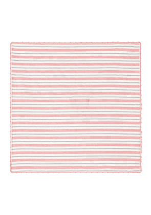 Pink and Grey Striped Cotton Poplin Square