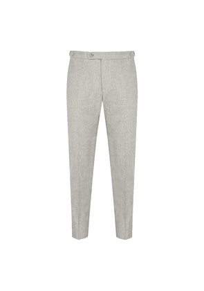 Light Grey Wool Tapered Trousers