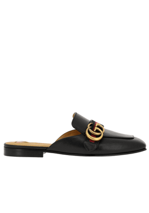Ballet Pumps Peyton Genuine Soft Leather Sandals With Web Gucci Band And Gg Monogram