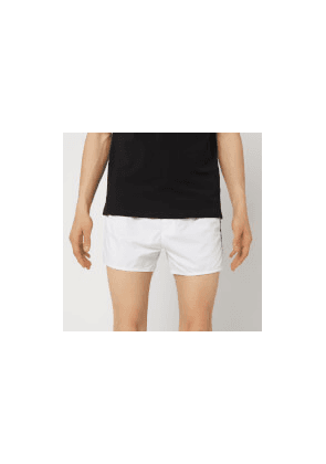 Emporio Armani Men's Embroidered Swim Shorts - White - EU 52/L - White