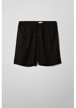 Pillar Checked Shorts - Black