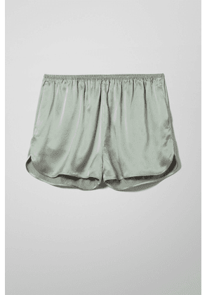 Minimal Silk Shorts - Grey