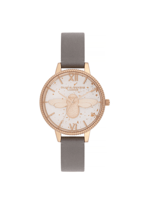 Celestial 3D Bee Demi Dial Watch - London Grey & Rose Gold