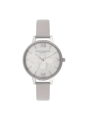 Celestial 3D Bee Demi Dial Watch - Grey Lilac & Silver
