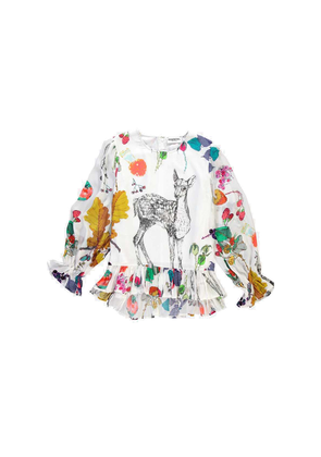 Sinfluencer Nature Printed Top - Off White