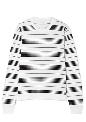 La Ligne - Bande Striped Stretch Cotton-jersey Top - White