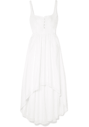 Esteban Cortázar - Asymmetric Cotton Midi Dress - White