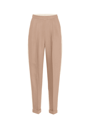 High-rise wool and silk pants