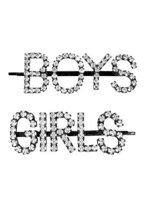 Ashley Williams SSENSE Exclusive Black and Transparent Girls/Boys Hair Clips