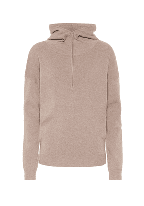 Cashmere and silk-blend hoodie