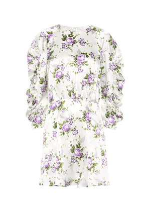 Floral silk minidress
