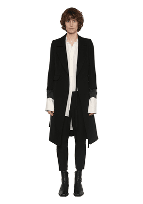 Double Breasted Wool & Cotton Coat