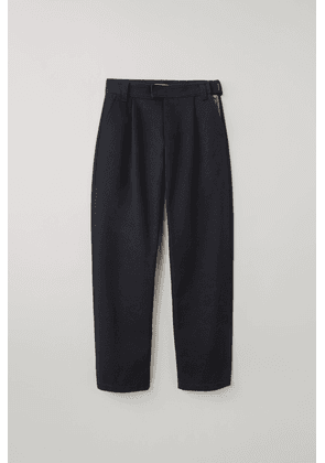 Acne Studios FN-MN-TROU000206 Navy blue  Pleated cotton-twill trousers