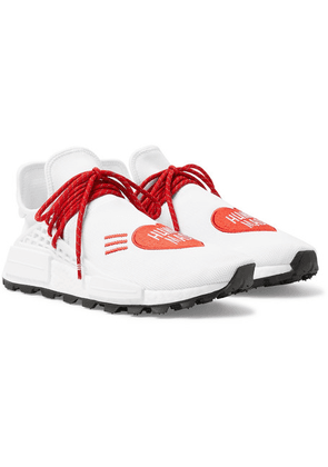 adidas Consortium - + Pharrell Williams + Human Made Nmd Hu Logo-embroidered Primeknit Sneakers - White