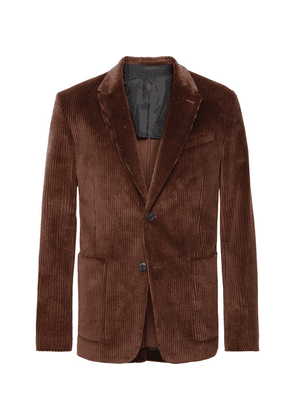 AMI - Brown Cotton-corduroy Suit Jacket - Brown