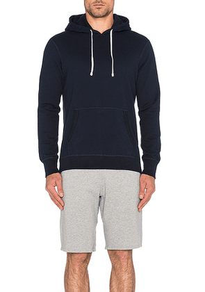 Reigning Champ Core Pullover Hoodie in Navy. Size S.