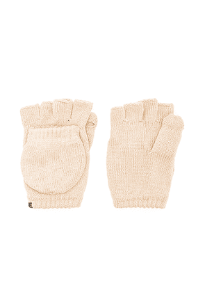 Plush Fleece Lined Texting Mittens in Neutral.