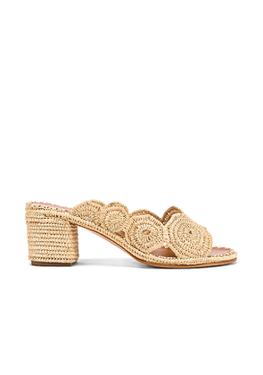Carrie Forbes Ayoub Mule in Nude. Size 37,38,39,40.