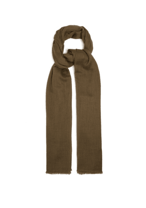 Denis Colomb - Nomad Woven Cashmere Scarf - Womens - Khaki