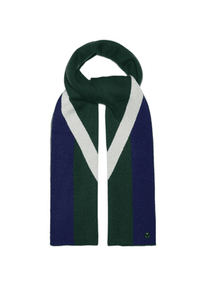 Charlotte Simone - Striped Wool And Cashmere-blend Scarf - Womens - Green