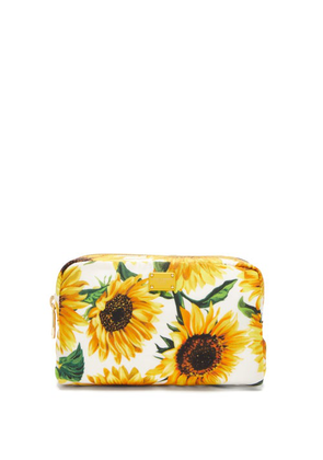 Dolce & Gabbana - Sunflower-print Cosmetic Case - Womens - White Multi