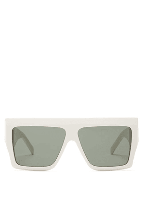 Celine Eyewear - Rectangle Acetate Sunglasses - Womens - White