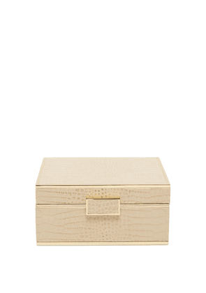 Aerin - Classic Small Leather Jewellery Box - Gold