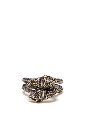 Gucci - Snake Sterling Silver Ring - Mens - Silver