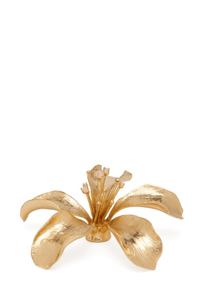 Aerin - Lily Crystal-centre Flower Ornament - Gold