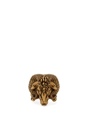 Gucci - Aries Engraved Ring - Mens - Gold Multi