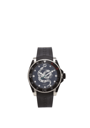 Gucci - Dive Kingsnake Stainless-steel Watch - Mens - Black Silver
