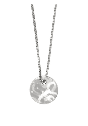 Alice Made This - Dot Mottled Steel Necklace - Mens - Silver