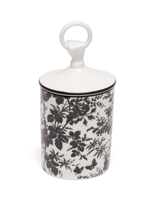Gucci - Herbarium Floral Print Scented Candle - White Black