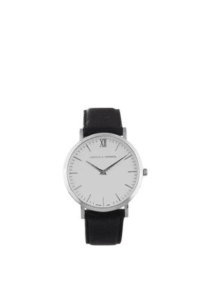 Larsson & Jennings - Lugano Stainless-steel And Leather Watch - Mens - Black White