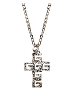 Gucci - G Cross Sterling Silver Necklace - Mens - Silver