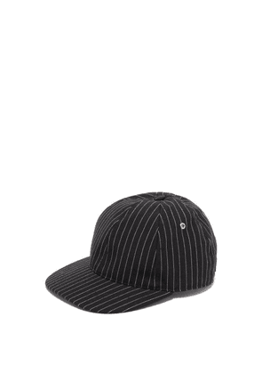 Ami - Pinstripe Cotton Baseball Cap - Mens - Black Multi
